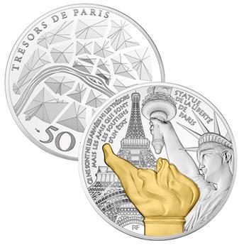 50 EUROS - ARGENT - FRANCE - STATUE DE LA LIBERTE GRENELLE BE 2017