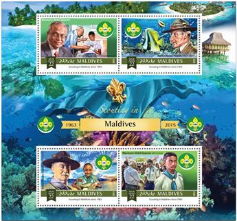n° 4997 - Timbre MALDIVES Poste