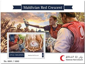 n° 877  : Timbre MALDIVES Blocs et feuillets