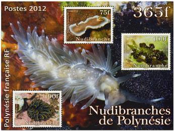 n.o 38 -  Sello Polinesia Bloque y hojitas