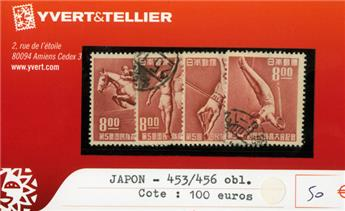 JAPON - n°453/456 obl.