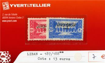 LIBAN - n°187/188**