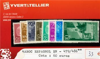 MAROC ESPAGNOL ZN- n°479/486**