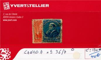 CANADA - n°36/37 obl.