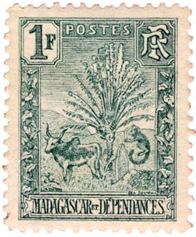 n°75* - Timbre MADAGASCAR Poste