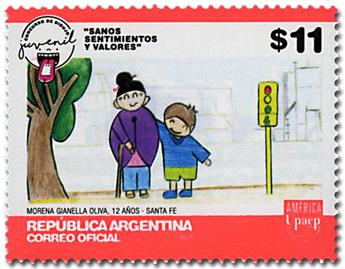 n° 3162 - Timbre ARGENTINE Poste