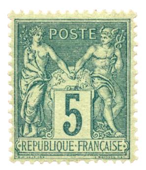 n°75* TB - Timbre FRANCE Poste