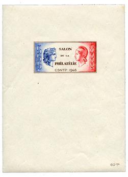 n.o 1 -  Sello Francia Cámara Sindical de Negociantes y Expertos en Filatelia (CNEP)