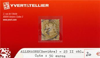ALLEMAGNE BAVIERE - n°25 II obl.