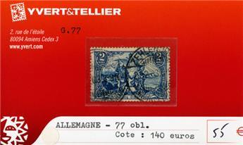 ALLEMAGNE EMPIRE - n°77 obl.