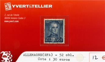 ALLEMAGNE FEDERALE - n°52 obl.