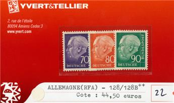 ALLEMAGNE FEDERALE - n°128/128B **