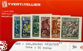 ALLEMAGNE ORIENTALE - n°485B/490B** (Catalogue MICHEL)