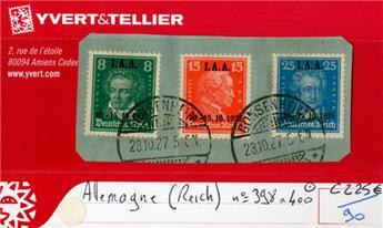 ALLEMAGNE REP.DE WEIMAR - n°398/400 obl.