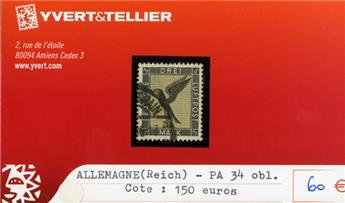 ALLEMAGNE IIIe REICH - PA n°34 obl.