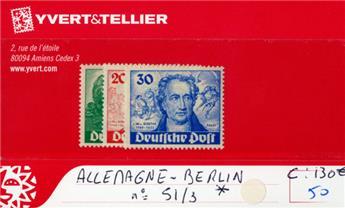 ALLEMAGNE BERLIN - n°51/53*