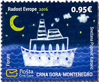 n° 394 - Timbre MONTENEGRO Poste