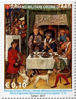 n° 1359/1365 - Timbre ORDRE de MALTE Poste
