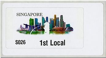 n° 14 - Timbre SINGAPOUR Timbres de distributeurs