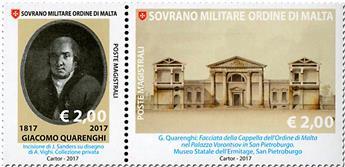 n° 1357/1358 - Timbre ORDRE de MALTE Poste