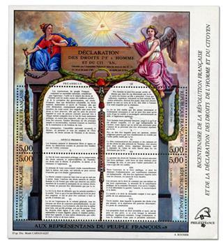 n° 11c -  Selo França Blocos e folhinhas