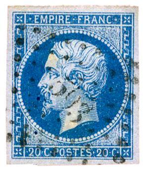 n°14Ac obl. TB - Timbre FRANCE Poste
