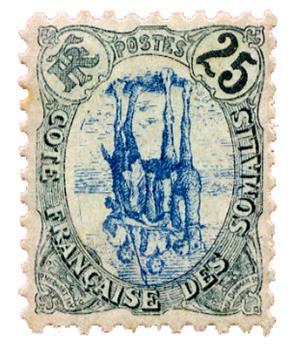 n°45*  - Timbre COTE DES SOMALIS Poste