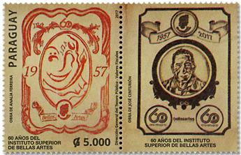 n° 3262 - Timbre PARAGUAY Poste