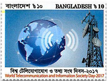 n° 1064 - Timbre BANGLADESH Poste