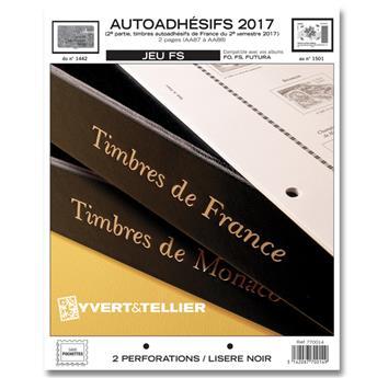 FRANCE AUTOADHESIFS FS : 2017 - 2EME SEMESTRE (jeux sans pochettes)