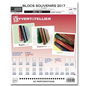 BLOCS SOUVENIRS SC : 2017 (Jeu avec pochettes)
