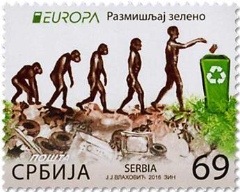 n° 657/658 - Timbre SERBIE Poste (EUROPA)