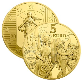 BE : 5 EUROS OR - FRANCE 2018 - SEMEUSE
