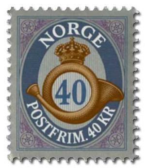 n° 1884 - Timbre NORVEGE Poste
