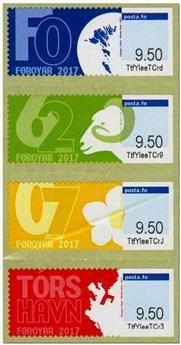n° 37/40 - Timbre ILE FEROE Timbres de distributeurs