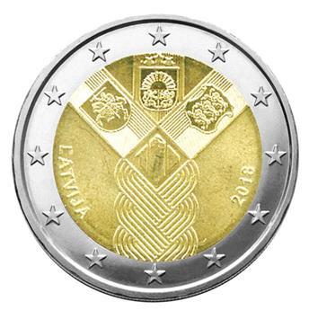 2 EURO COMMEMORATIVE 2018 : LETTONIE (100 ANS DES ETATS BALTES)