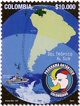 n° 1804 - Timbre COLOMBIE Poste
