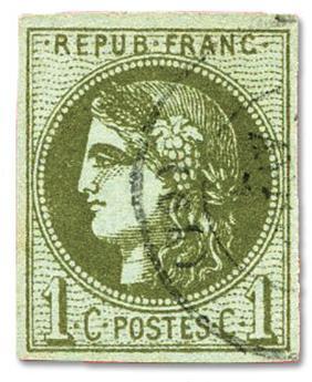 n°39B obl. TB - Timbre FRANCE Poste