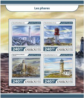 n° 1492/1495 - Timbre DJIBOUTI Poste