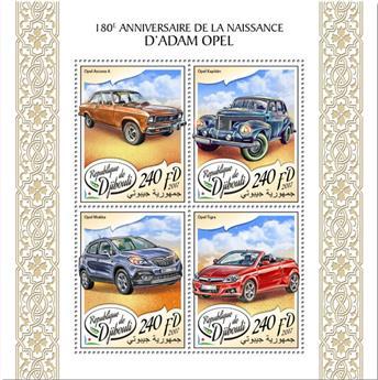 n° 1632/1635 - Timbre DJIBOUTI Poste