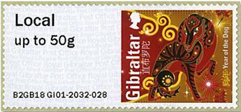 n° 77 - Timbre GIBRALTAR Timbres de distributeurs