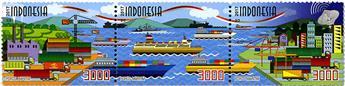 n° 2862/2864 - Timbre INDONÉSIE Poste