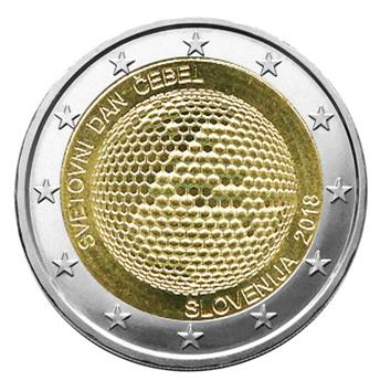 2 EURO COMMEMORATIVE 2018 : SLOVENIE (Journée Mondiale des Abeilles)