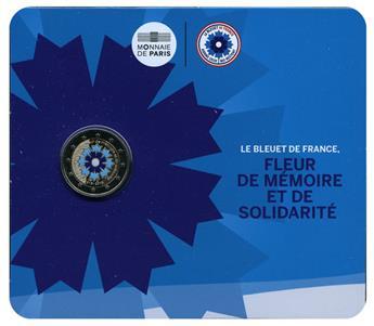 BU : 2 EURO COMMEMORATIVE 2018 (FRANCE) : ARMISTICE ET BLEUET