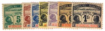 n°1/7* - Timbre HAUT-SENEGAL ET NIGER Taxe
