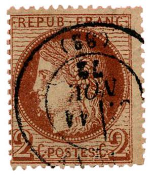 n°51a obl. TB - Timbre FRANCE Poste