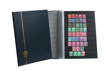 PERFECTA : Classeur fixe pour timbres (Grand modèle-Pages Noires-16p.)