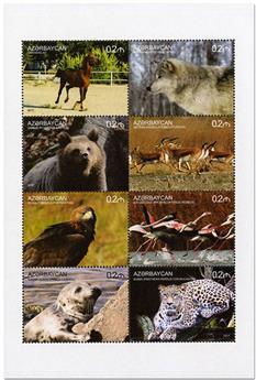 n° 1067/1074 - Timbre AZERBAIDJAN Poste