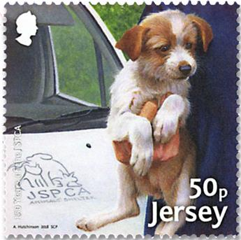n° 2299/2306 - Timbre JERSEY Poste