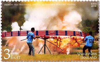 n° 3452/3455 - Timbre THAILANDE Poste